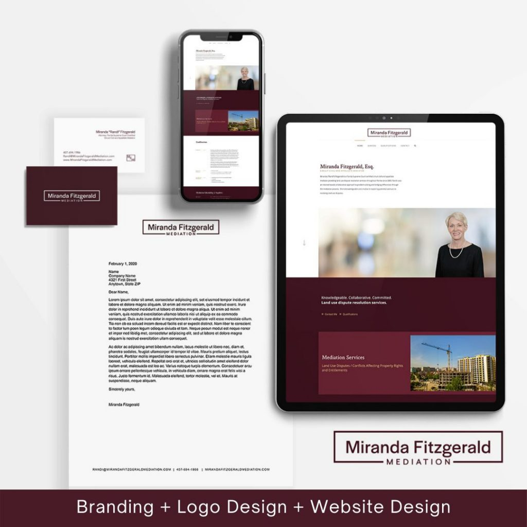 Image of design work for Miranda Fitzgerald Mediation